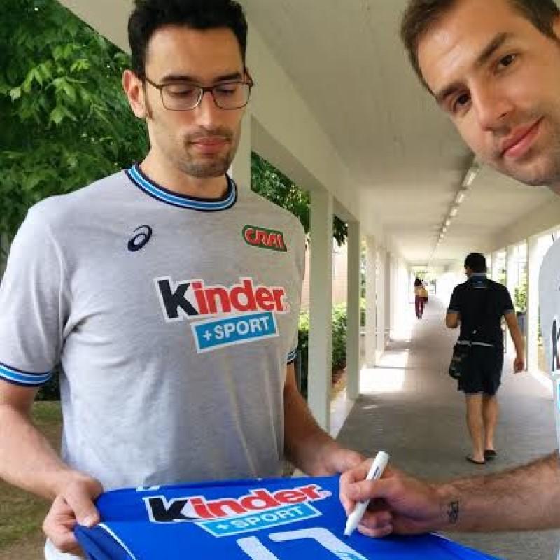 Giovi Italia volley match worn shirt, 2014 - signed