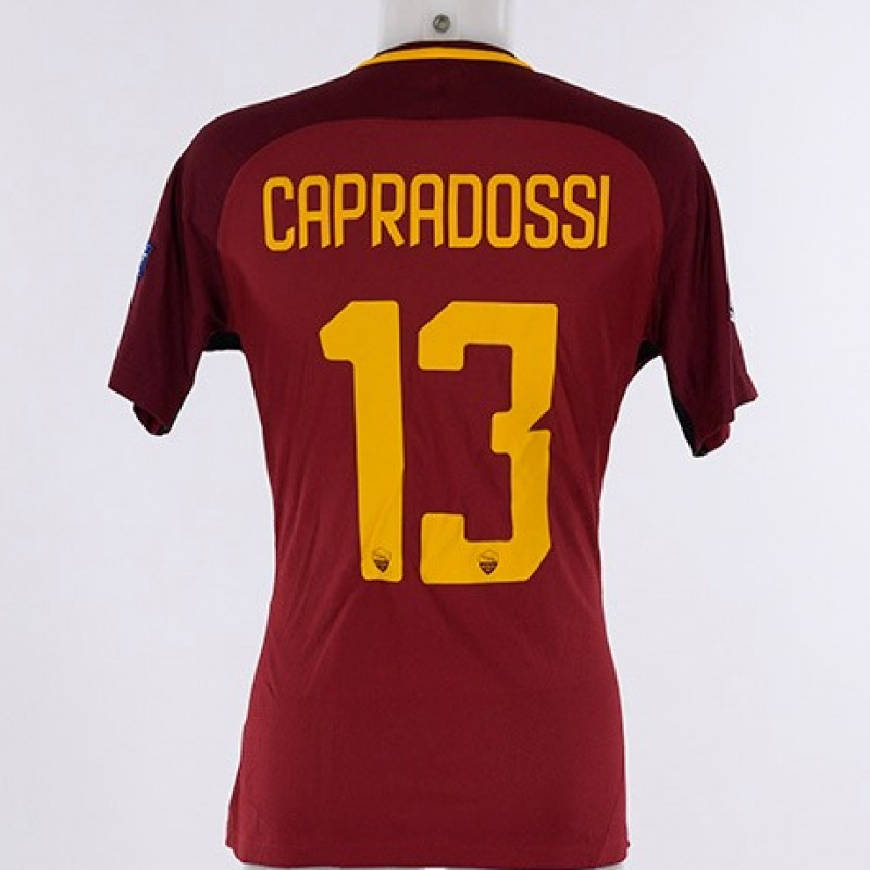 Capradossi's Match-Issue Roma-Barcelona CL 2017/18 Shirt