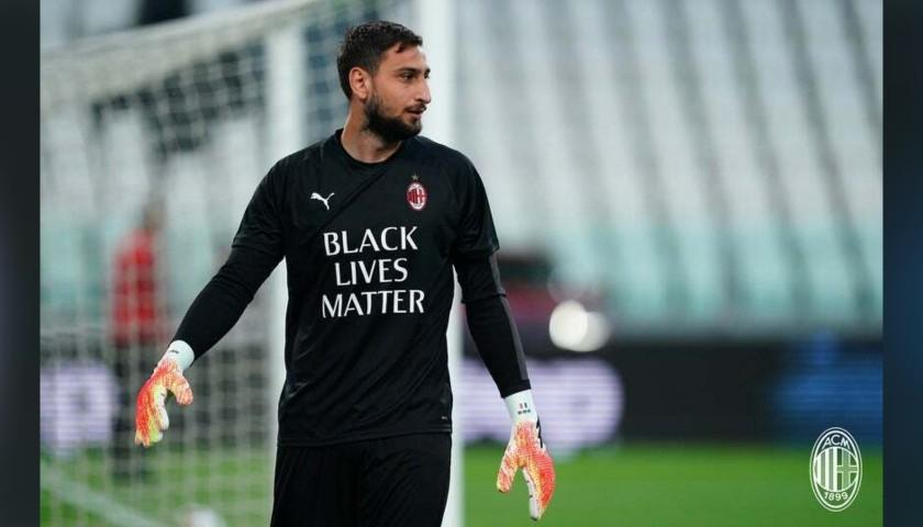 """""""Black Lives Matter"""" Training Shirt, Juventus-Milan - Signed by Donnarumma"""