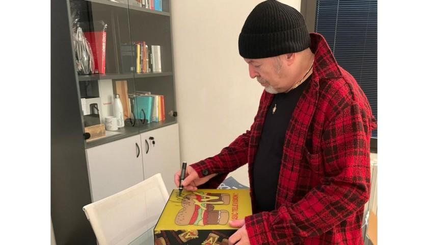 Vasco Rossi Signed MTV box