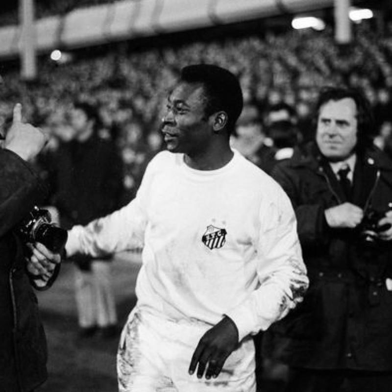 Pele's Santos Signed Match Shirt, 1972