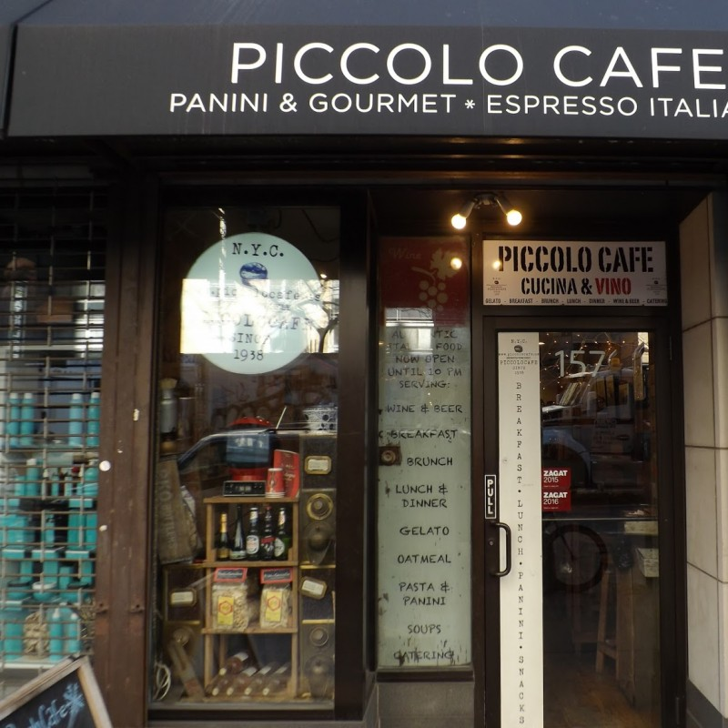 Dinner for two at Piccolo Cafe in New York City