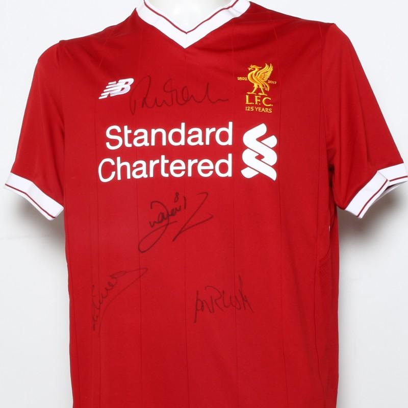 "LFC 125 Shirt ""Midfielder Generals"" Signed by Gerrard, Henderson and McDermott"