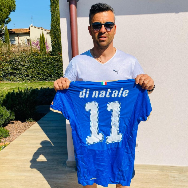 Di Natale's Match-Issued and Signed Shirt, Italy-Ireland 2009