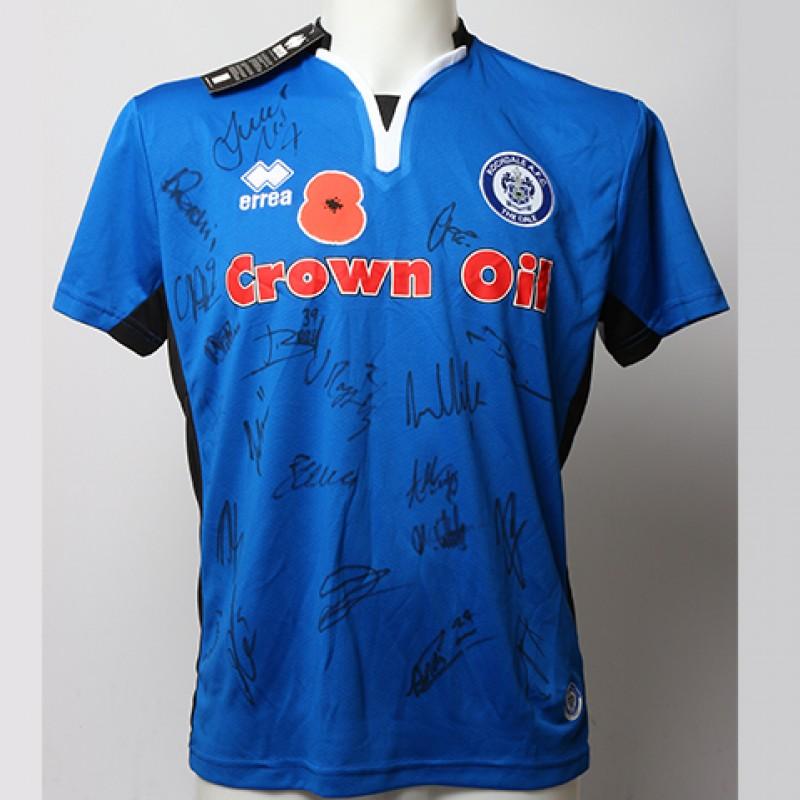 Poppy Shirt Signed by Rochdale F.C.
