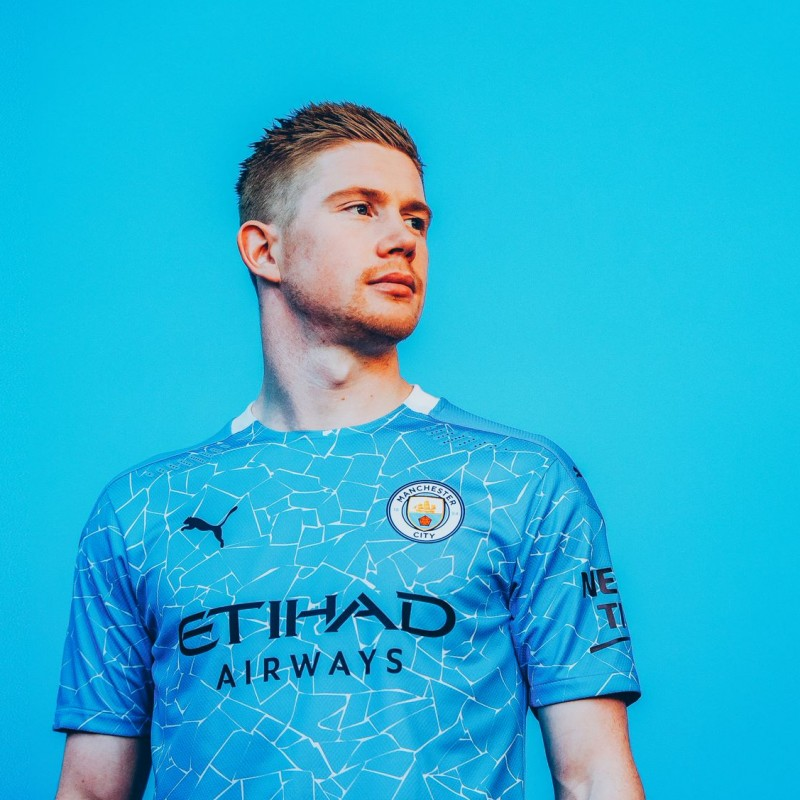 Kevin De Bruyne Kit Launch Photograph, Signed and Framed