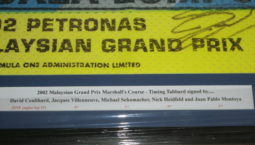 F1 Signed Marshall's Bib