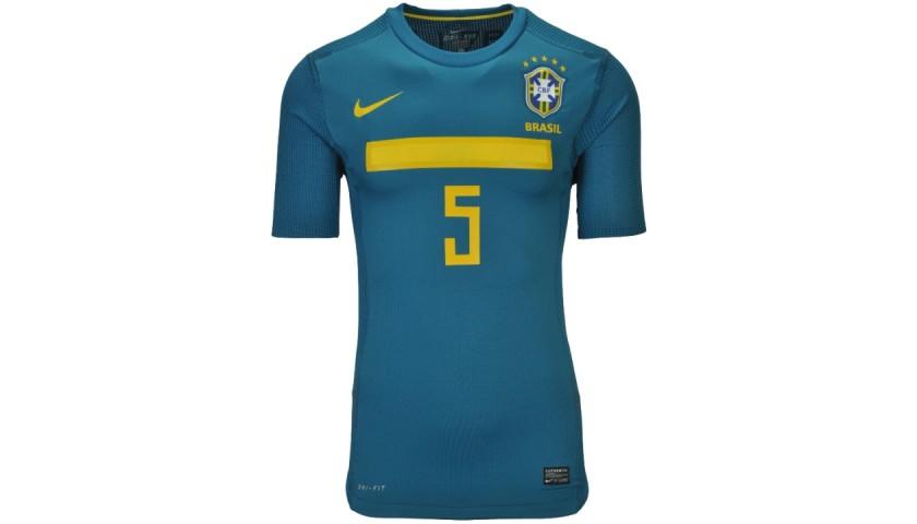 Leiva's Brazil Match Shirt, Copa America 2011