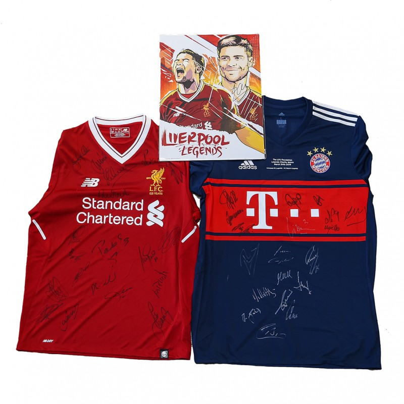Liverpool FC Legends Signed Memorabilia Package from 'LFC Legends & FC Bayern Legends' Foundation Charity Match 2018