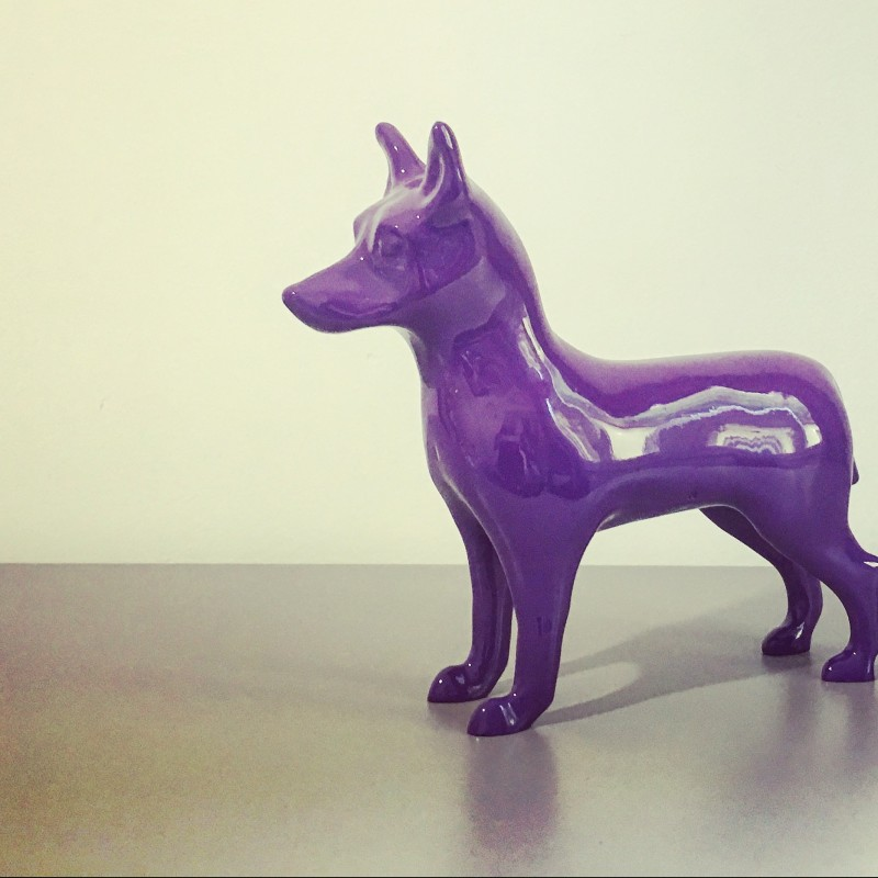 """A.Resina """"NinaForTheDogs"""" marble dust sculpture 31x30x0.9 cm"""
