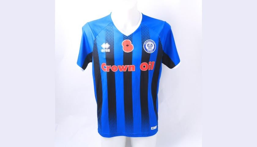 Rochdale Official Poppy Shirt Signed by the Team