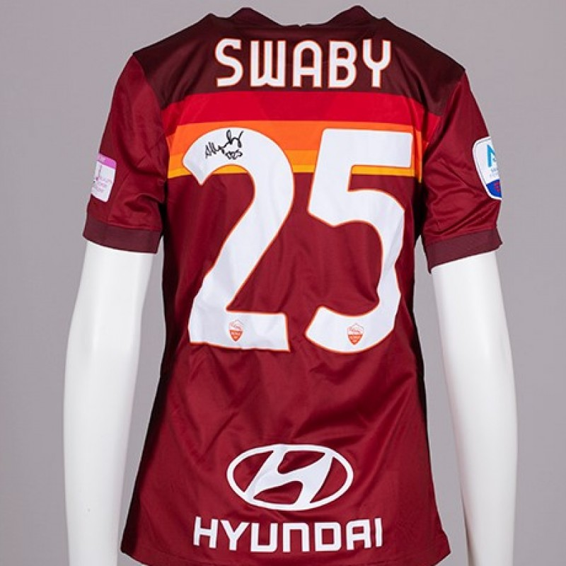 Swaby's AS Roma Signed Shirt - Special Komen Italia