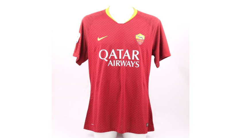 De Rossi's Worn and Signed Shirt, Roma-Genoa 2018