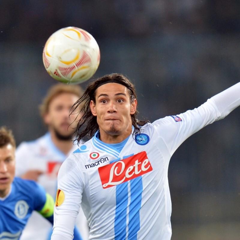 Cavani's Napoli Worn and Signed Shirt, UEFA EL 2012/13