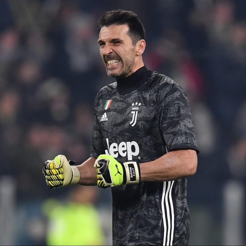 Buffon's Official Signed Juventus Shirt, 2019/20