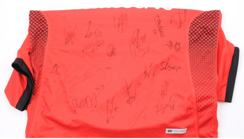 Walsall Official Poppy Shirt Signed by the Team