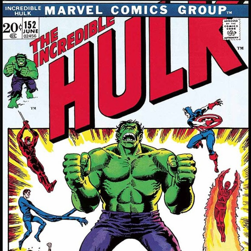 "The Incredible Hulk #152 ""Who Will Judge The Hulk?"" - Signed Canvas Edition"
