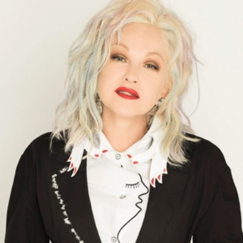 Photo with Cyndi at Star-Studded, L.A. Concert, Plus Airfare