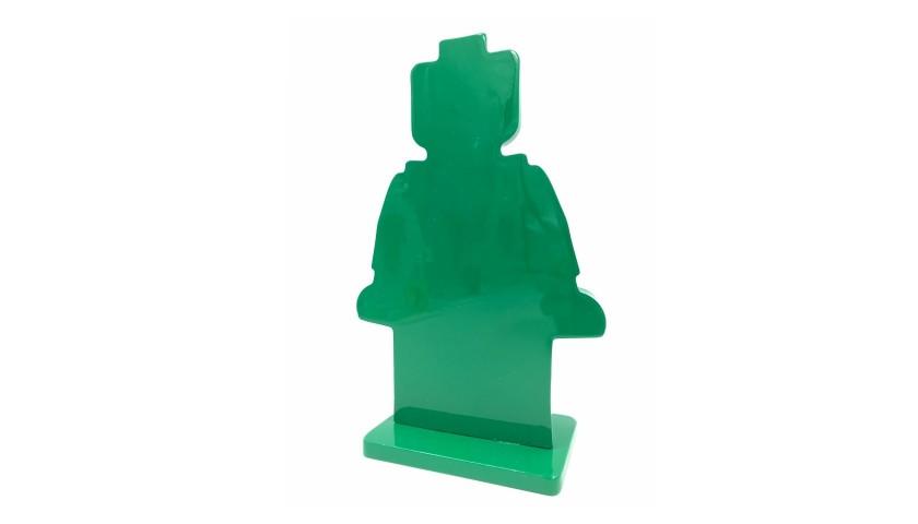 """Alter Ego Oscar Green"" - Sculpture by Alessandro Piano"