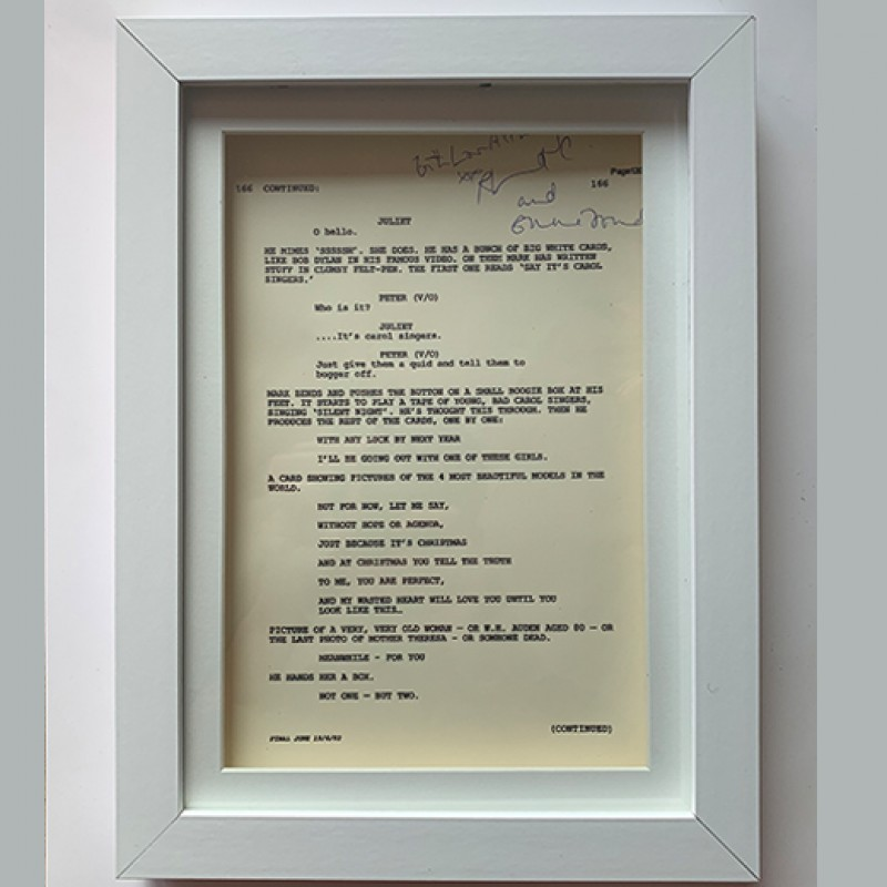 Signed Page Of Script From Love Actually