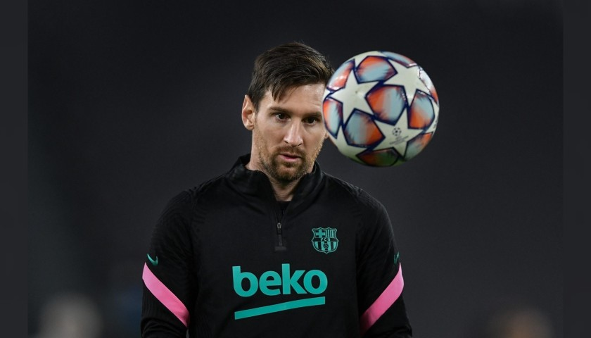 Official UCL 2020/21 Ball - Signed by Messi