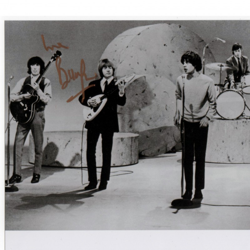 Rolling stones photo signed by Bill Wyman