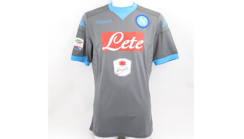 Higuain's Napoli Match-Issued Signed Shirt, 2015/16