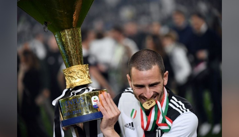 Bonucci's Worn and Unwashed Shirt, Juventus-Atalanta 2019
