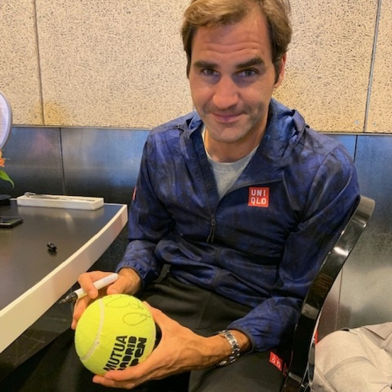 Tennis Ball Signed by Roger Federer
