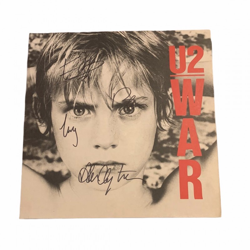 U2 Fully Signed War Vintage Vinyl LP