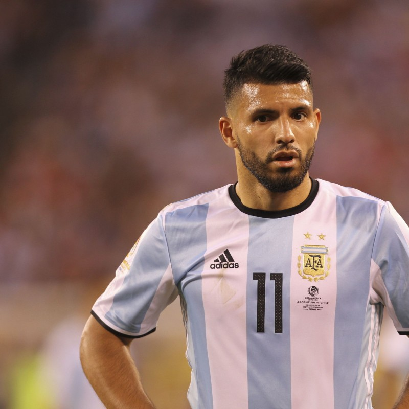 Aguero Match issued/worn Shirt, Copa America Final 2016 - Signed