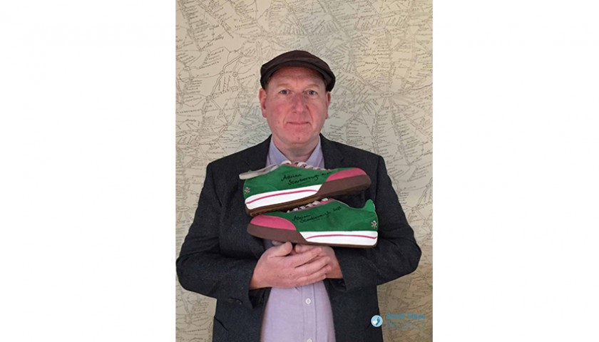 Adrian Scarborough Signed Shoes