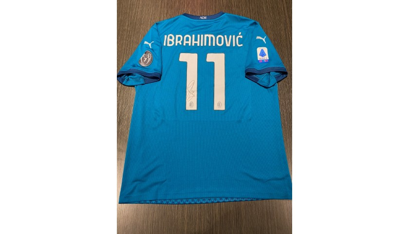 Ibrahimovic's Official Milan Signed Shirt, 2020/21