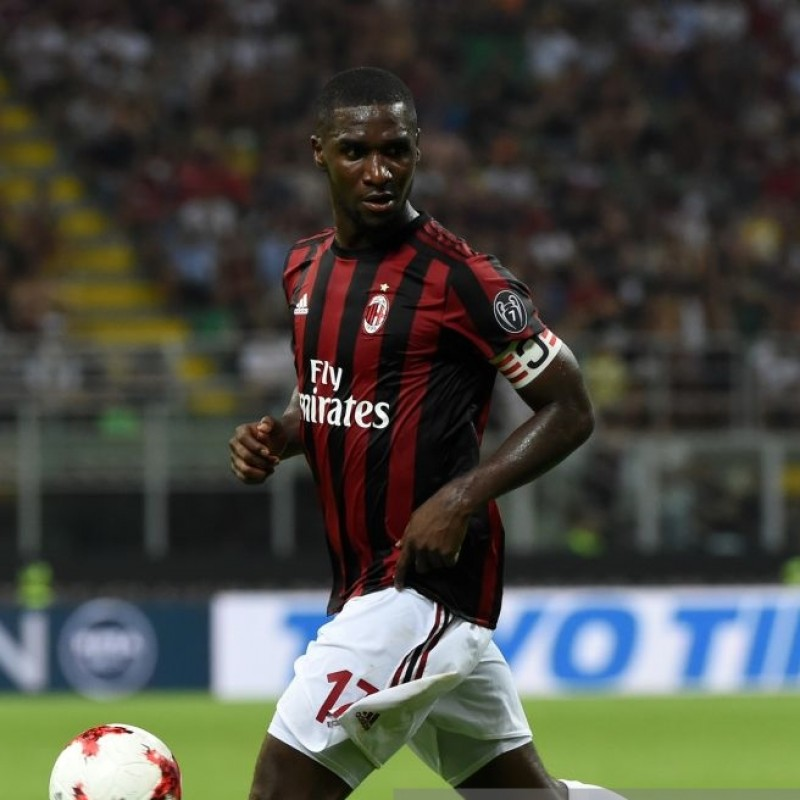 Zapata's Signed Match-Issued 2017 Milan-Bologna Shirt