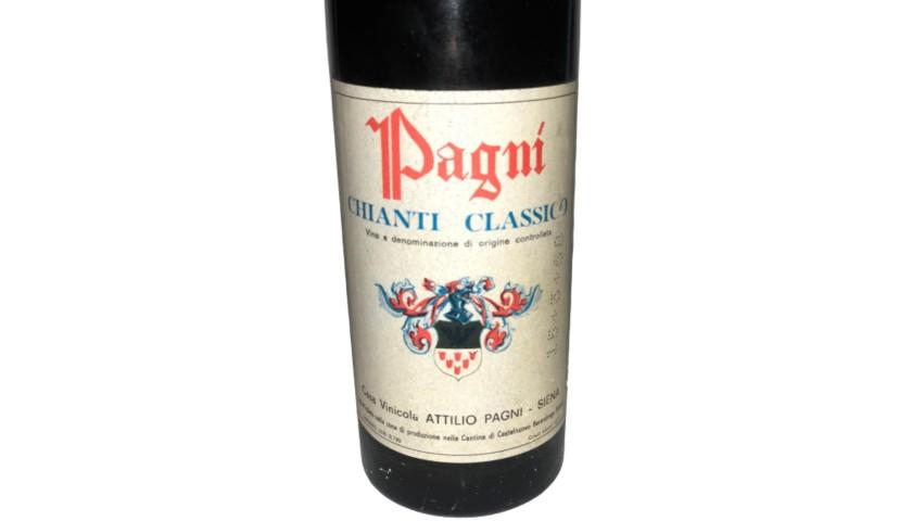 Bottle of Chianti Classico, 1962 - Casa Vinicola Attilio Pagni