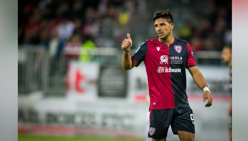 Simeone's Match-Issued Signed Shirt, Cagliari-Fiorentina