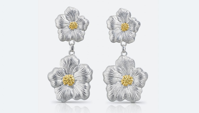 Buccellati Blossoms Gardenia Pendant Earrings