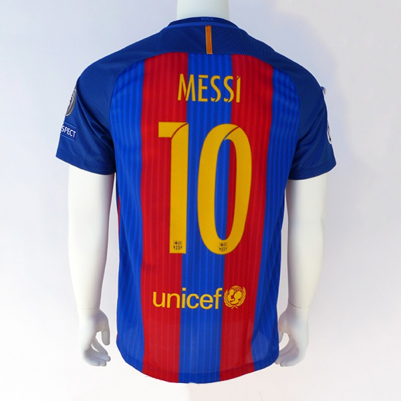 Signed Lionel Messi 2016/17 Jersey