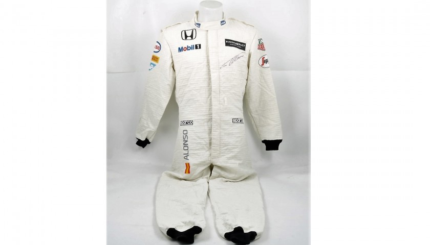 Signed Racing Suit Worn by Fernando Alonso at the 2015 Russia GP