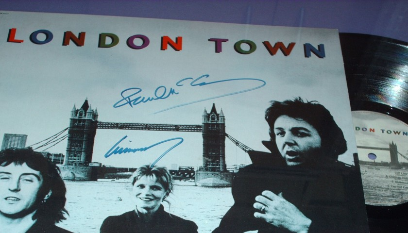 'London Town' album signed by Paul and Linda McCartney