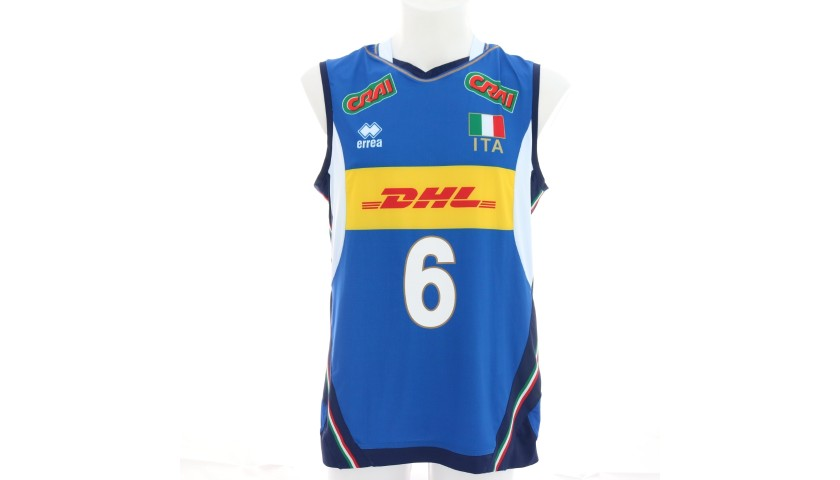 Official Italvolley Vest, 2019 - Signed by Giannelli