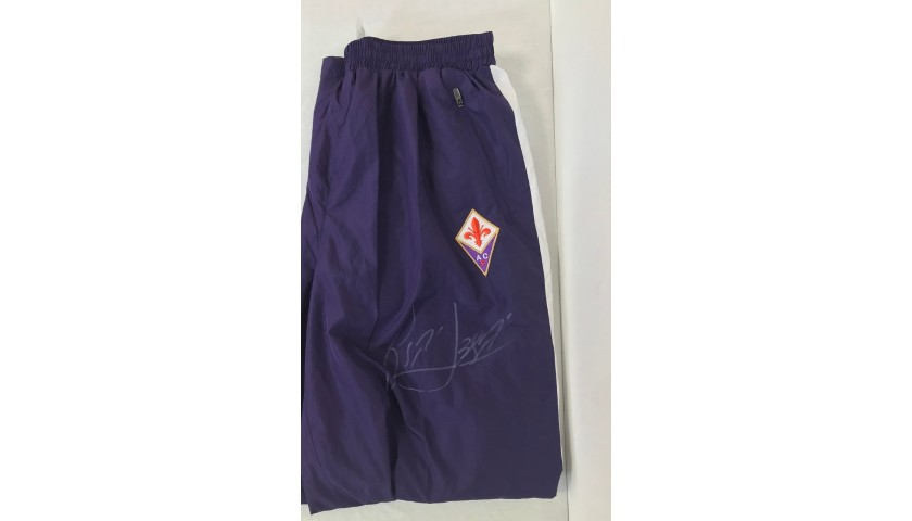 Official Fiorentina Track Pants Signed by Batistuta
