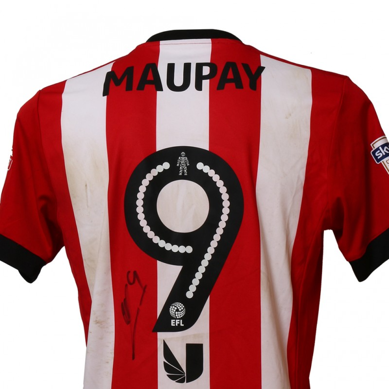 Official Poppy Shirt Signed and Worn by Brentford FC's Neal Maupay
