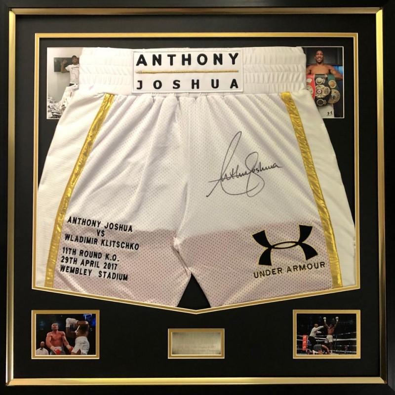 Anthony Joshua Signed Boxing Trunks - Limited Edition