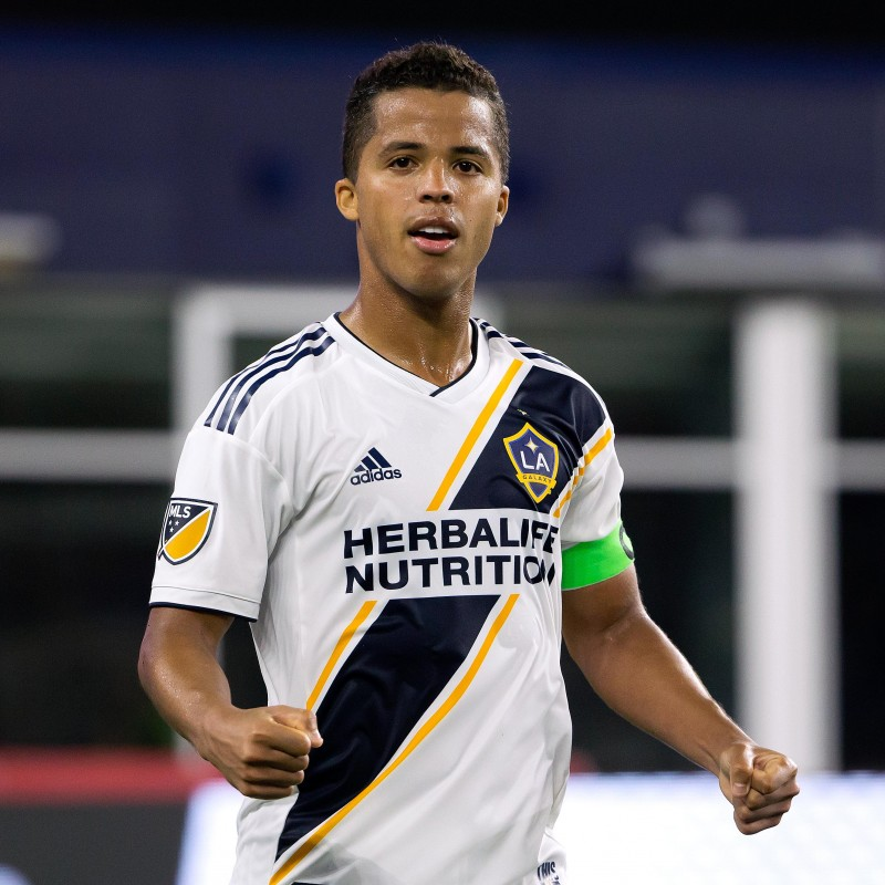 Giovani Dos Santos Worn and Unwashed Signed Shirt