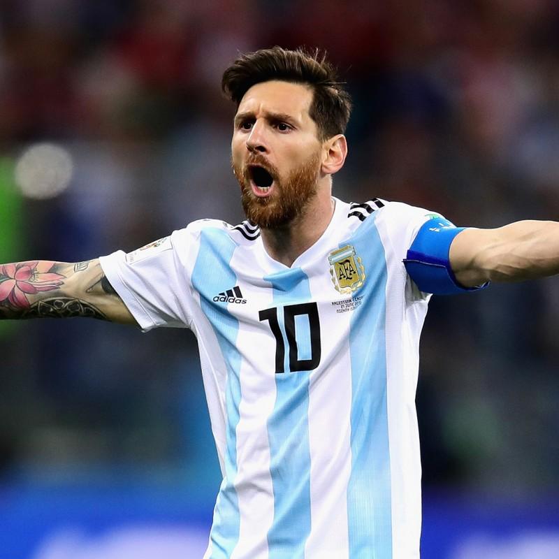 Messi's Match Shirt, Argentina-Croatia 2018