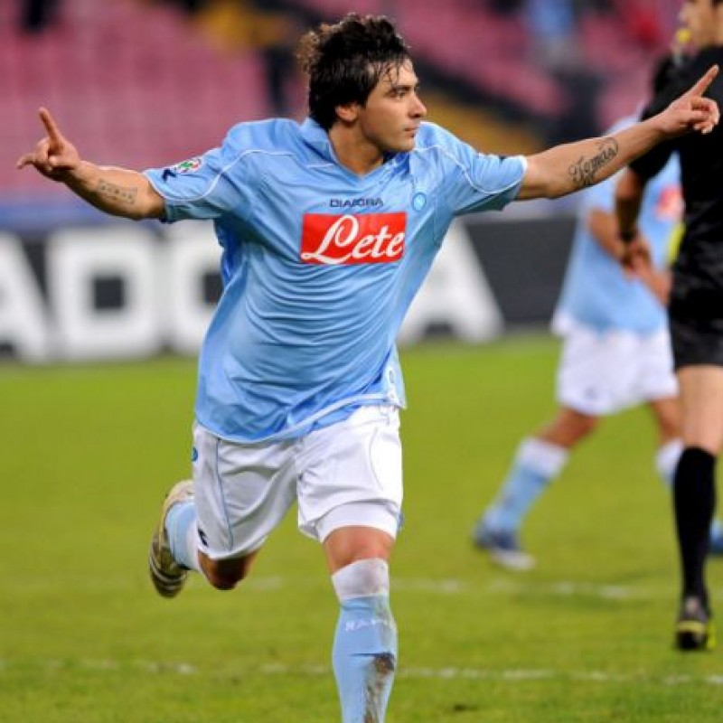 Lavezzi's UNWASHED Match-Worn Napoli Shirt, Serie A 2008/09