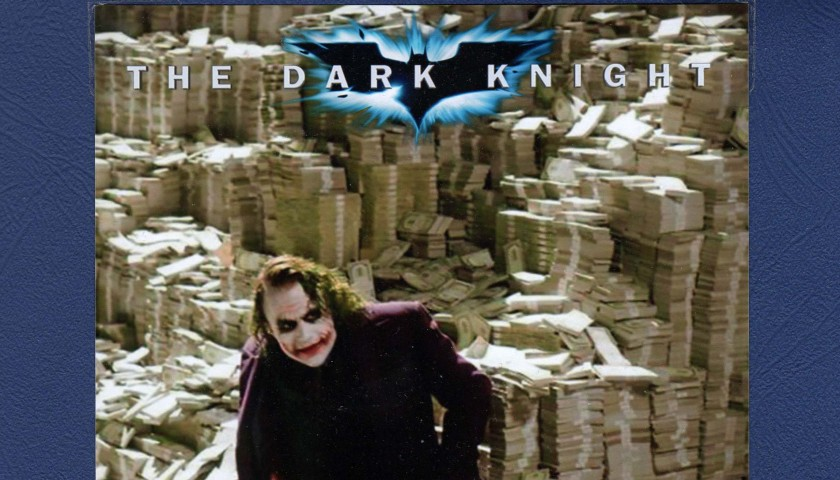 "Prop money used in ""The Dark Knight"" movie"