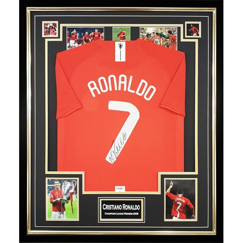 Ronaldo's Champions League Winners 2008 Signed Shirt