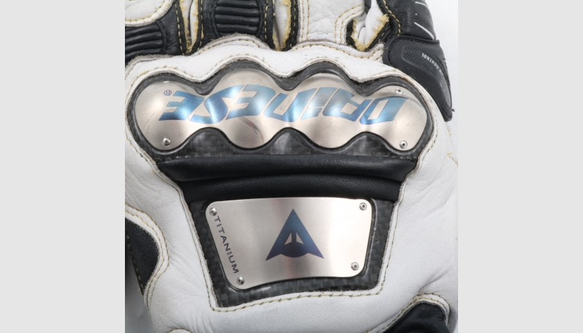 Motorcycle Gloves Worn by Italian Rider Marco Bezzecchi - Signed